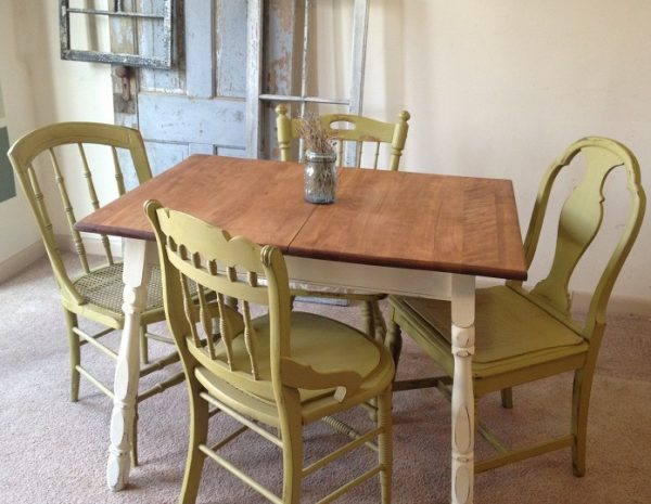 винтажный столик на кухню