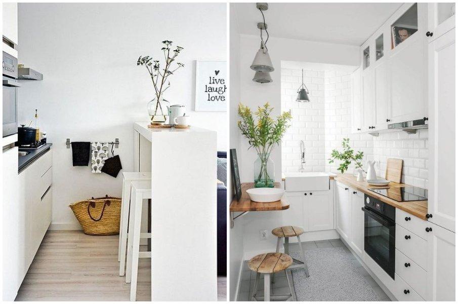 Идеи столов для маленькой кухни