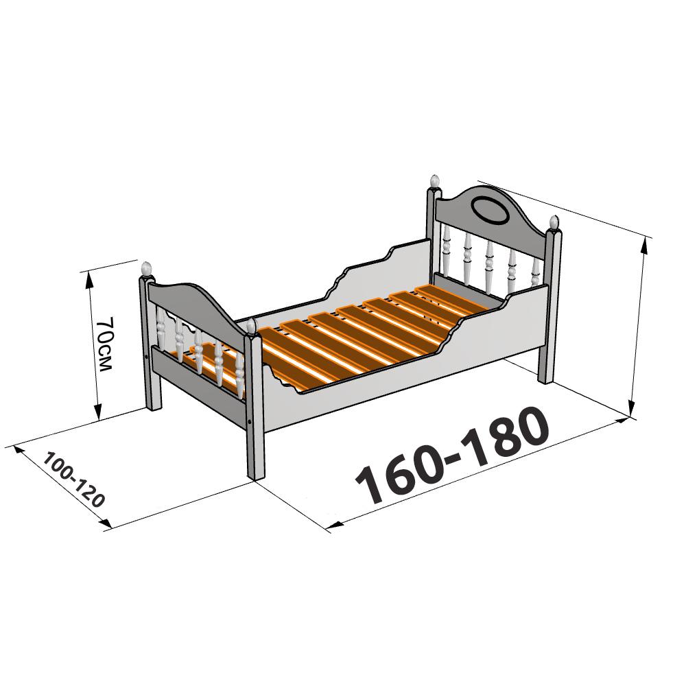 Размеры полуторной кровати для детей