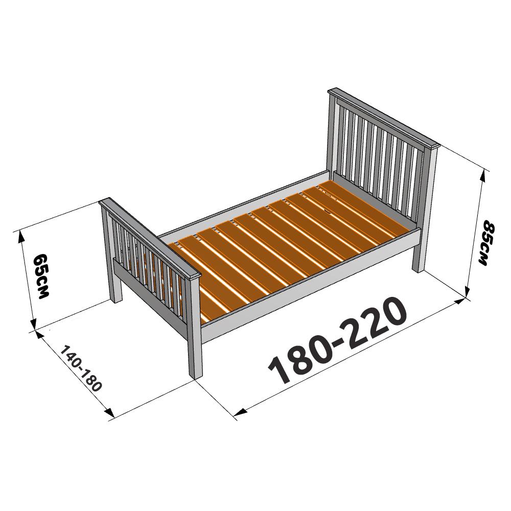 Размеры полуторного спального места для взрослых