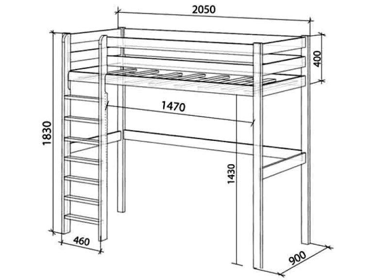 Схема: Кровать чердак для детей