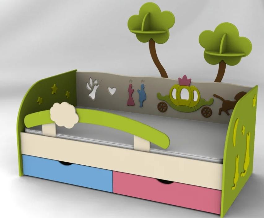 Фото деревянный бортик от падении для детской кровати