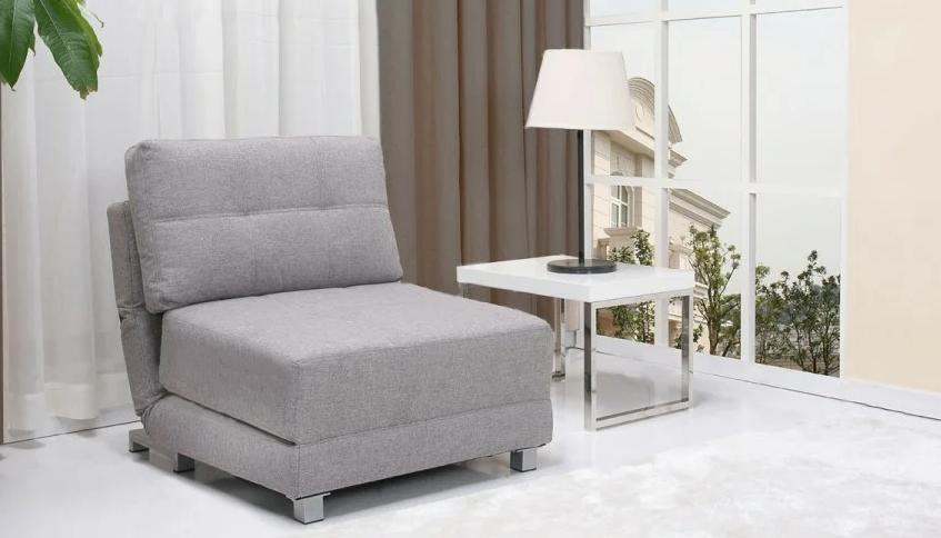 Узкое и компактное кресло кровать без подлокотников