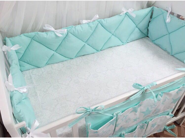 Бортики-подушки из ткани