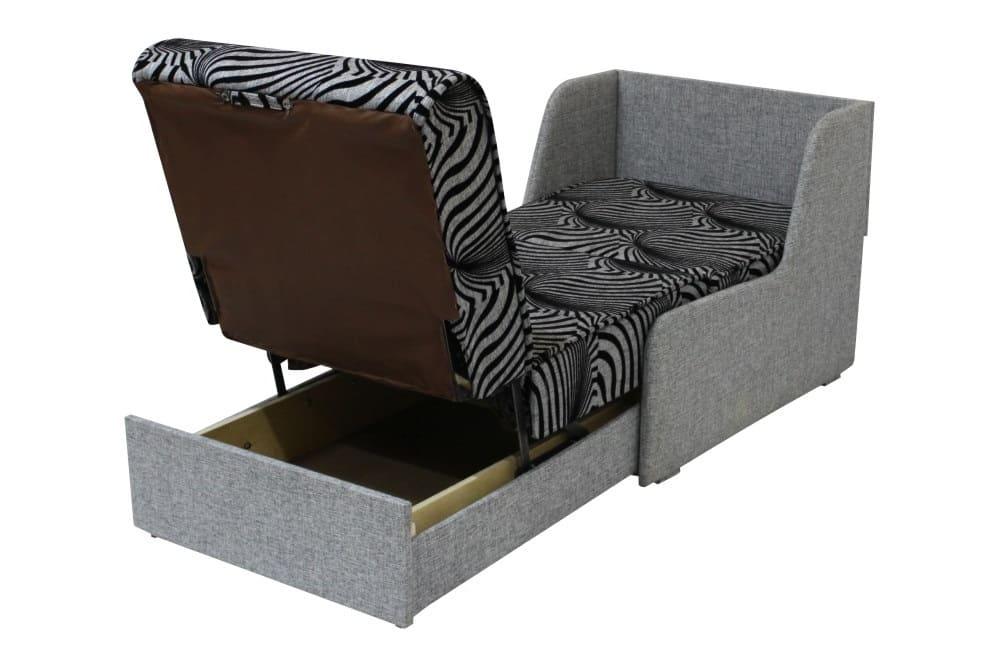 Кресло кровать без подлокотников с ящиком